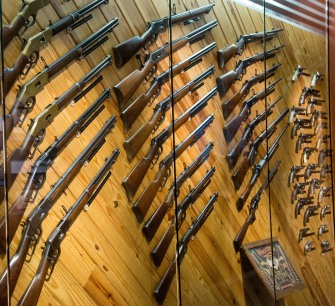 A fabulous antique gun display!