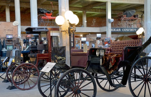 Classic carriages. only part of the large collection at the Cowboy Hall of Fame