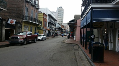 Typical narrow street in the French Quarter