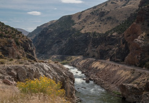 The Big Horn River through Wind River Canyon