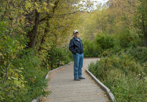 On the boardwalk at Cascade Springs